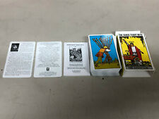 """COMPLETE DECK OF 80 """"RIDER-WAITE"""" TAROT CARDS IN BOX WITH INSTRUCTIONS"""
