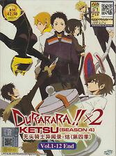 Durarara!!x2 Ketsu Season 4 DVD (Eps : 1 to 12 end) with English Subtitle