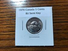 1970 Canadian nickel Semi-Key coin