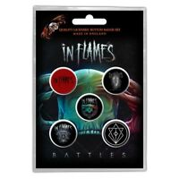 Official Licensed Merch 5-BADGE PACK Metal Button Pin Badges IN FLAMES Battles