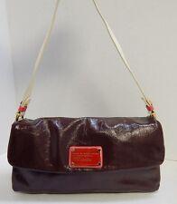 Marc by Marc Jacobs Burgundy Multi Crinkle Patent Leather Flap Shoulder Bag
