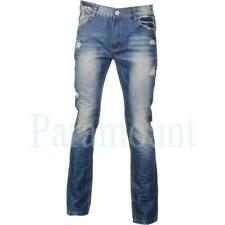 Cotton Distressed Classic Fit, Straight 30L Jeans for Men