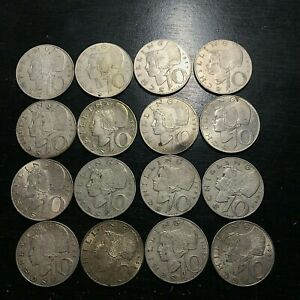 LOT OF 16 SILVER AUSTRIA 10 SCHILLINGS NICE COINS