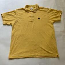 LACOSTE Men Polo Shirt Yellow Size 6 100% Cotton