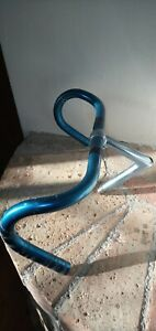 FIAMME DALLAS VINTAGE BICYCLE HANDLEBAR/STEM COMBO SUPER RARE BLUE