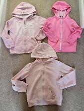 Girls age 7-8 clothes bundle 3 hoodies pink zip through