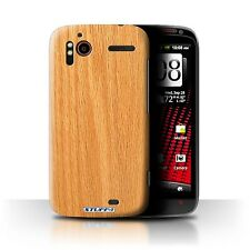 STUFF4 Back Case/Cover/Skin for HTC Sensation XE/Wood Grain Effect/Pattern