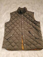 Woolrich Dark Shale Army Green Duck Down Duvet Vest Body Warmer XL Free Shipping