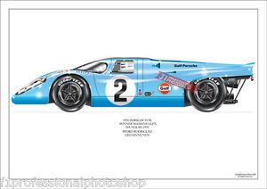 1970 Porsche 917k Watkins Glen 6hr winner- Rodriguez ltd ed/250 artprint
