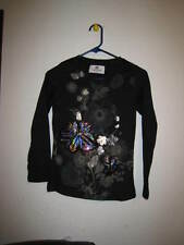 voltage girls long sleeve shirt size 11 flower design black