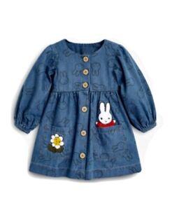 NEXT Miffy Denim Dress 3-6 Months RRP- £20