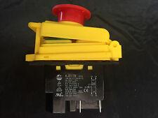 Interruptor de parada de inicio Kedu KJD17GF no voltios liberación (2HP/16A) y 4-Pin de parada de emergencia