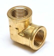 """1/2"""" Female NPT 90 Degree Elbow Brass Fitting Vacuum, Fuel, Air, Water, Oil, Gas"""