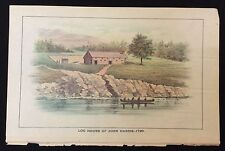 1896 Fort Harris full color Harrisburg Pennsylvania Susquehanna River Indian