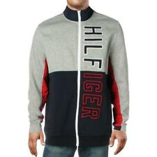 Tommy Hilfiger Mens Navy Logo Bomber Jacket Outerwear Big...