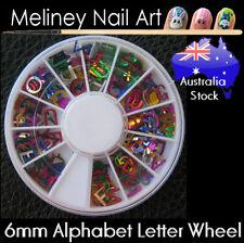 Alphabet Letter Nail Art Decoration Craft supplies Party Confetti Metal Slice