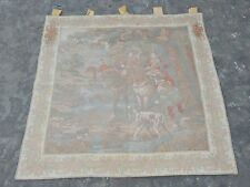 Vintage French Beautiful Hunting Scene Tapestry 110x110cm (A1042)