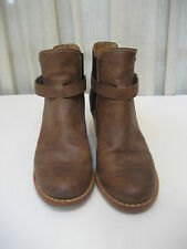Rag & Bone Durham Brown Leather Pull On Ankle Boots Women's Size 36 M