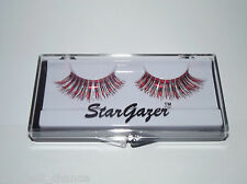 Stargazer Red & Silver Foil False Eyelashes #26 eye lashes glam rock