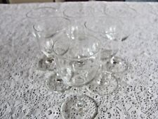 Lot of 6 Cordial And/Or Sherry 4 Inch Glasses With Etched Design
