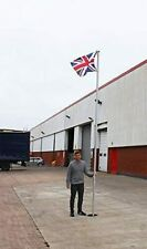More details for wido 17ft commercial flagpole aluminium flag pole with flag heavy duty