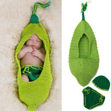 Newborn Baby Girl Boy Photography Props Crochet Knit Costume Photo Hat Outfits