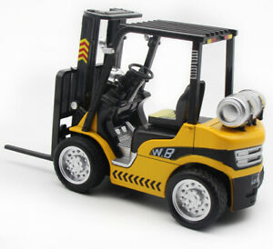 1:24 Forklift Truck Construction Diecast Model Car Toy Vehicle Sound Yellow Kids