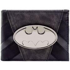Official DC Batman Metallic Badge Striped Suit up Black ID & Card Wallet