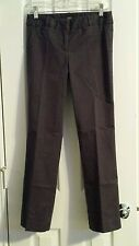 J CREW Stretch City Fit Solid Navy Blue Pants Size 0 Short Cotton Straight Leg