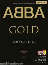 ABBA Gold Greatest Hits Singalong MAMMA MIA Pop PIANO Guitar Music Book AUDIO