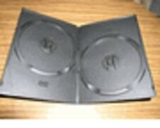 400 NEW HIGH QUALITY BLACK SUPER SLIM 7mm DOUBLE 2 DVD CASES PSD35