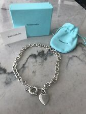 Tiffany & Co. Sterling Silver Heart Tag Toggle Choker Necklace $495