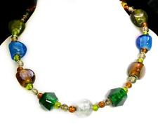 Multi Color Glass Big Sized Beads Fashion Costume Body Jewelry Necklace