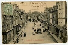 Place Gambetta Lisieux Normandy France Vintage Postcard to Russia 1907