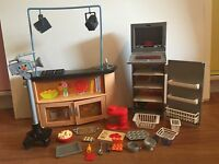 Barbie Doll I Can Be A T.V. Chef Kitchen Playset  2007  HTF