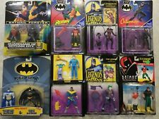 Vintage Batman MOC Lot of 11 Action Figures Joker Catwoman Robin Hasbro & Kenner