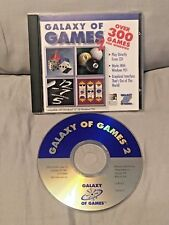 Galaxy Of Games 2  PC 1997 CD-ROM Software Over 300 Games !! Rare