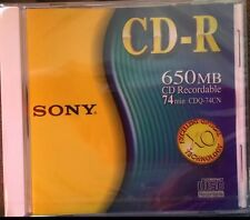1 Sony CD-R CD Recordable 650MB/74min Compact Disc Recordable SEALED/NEW