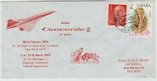 CONCORDE 1975 BRITISH AIRWAY CONCORDE official illustrated FFC *FILTON-MADRID*