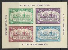 Atlantic City, American Philatelic Exposition souvenir sheet MNH 1934 Cinderella