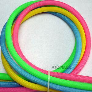 UV Color 3MM-12MM TIGHT Braided PET Expandable Sleeving Cable Wire Sheath