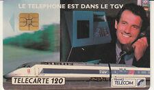 France télécarte 120 Le téléphone est dans le TGV
