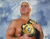 Ric Flair Signed 8x10 Photo Reprint WWE Picture w/ Winged Eagle Belt NWA