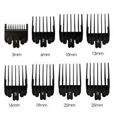 8Pcs Hair Clipper Guide Limit Comb Trimmer Guards Attachment For Wahl Black