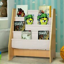 Wood Kids Bookcase Children Book Display Rack Organizer Storage Book Shelf USA