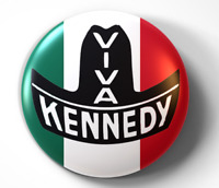 Viva Kennedy Campaign Mexican American - pin pinback button - FREE Shipping