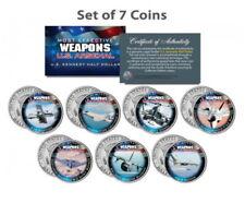 USA 7 Stück Kennedy Half 0,5 Dollar Farbe Waffen Weapons Arsenal vollständig