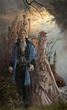 Nene Thomas Limited Edition Signed Print Siblings Blond Boy Girl Couple Castle