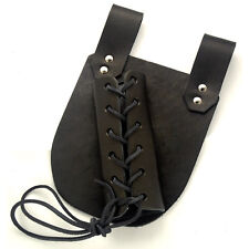 Medieval Sword Frog - Leather Sword Holder, Large, Black, Right 22652