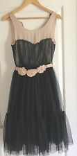 PORTMANS WOMENS DRESS PARTY EVENING LINED BLACK BEIGE SZ 8